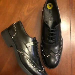 New Boemos Italian Leather Studded Wingtips
